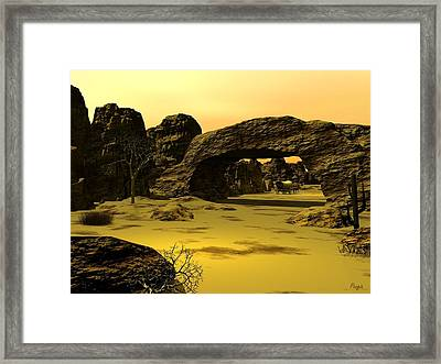 Arch Framed Print by John Pangia