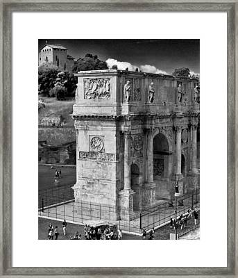 Framed Print featuring the photograph Arch Of Constantine by Matthew Ahola