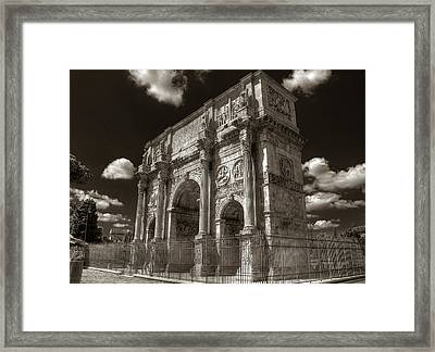 Arch Of Constantine Framed Print
