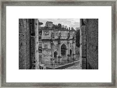 Arch Of Constantine Framed Print by Pablo Lopez