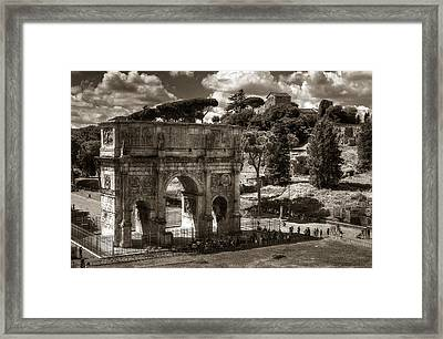 Arch Of Contantine Framed Print