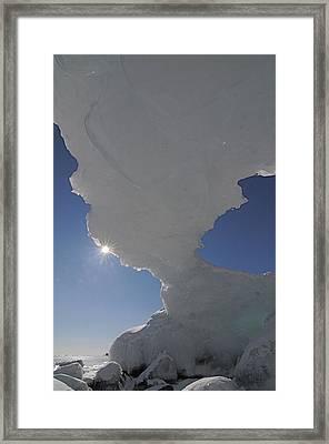 Arch Of Ice Framed Print by Sandra Updyke