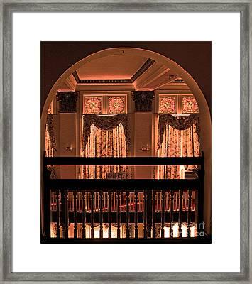 Arch Of Light In Near Night Framed Print