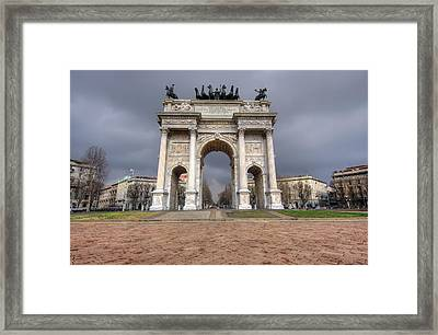Arch Of Peace Milano Framed Print by Ioan Panaite