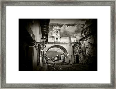 Arch Of Santa Catalina Framed Print by Tom Bell