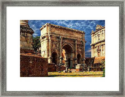 Arch Of Septimius Severus Framed Print by Anthony Dezenzio