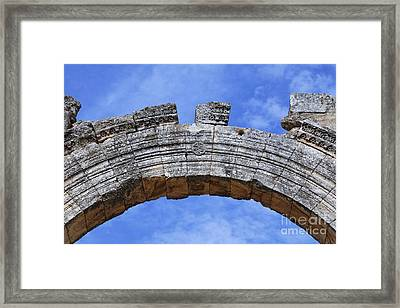 Arch Of The Church Of St Simeon Syria Framed Print