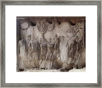 Arch Of Titus. 81-97. Italy. Rome Framed Print