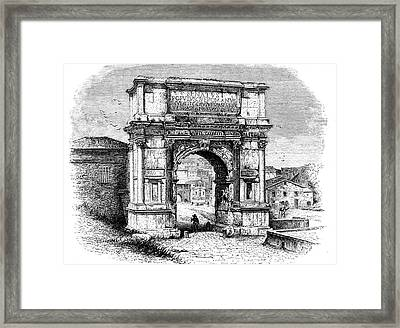 Arch Of Titus Framed Print by Collection Abecasis