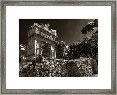 Arch Of Titus Framed Print