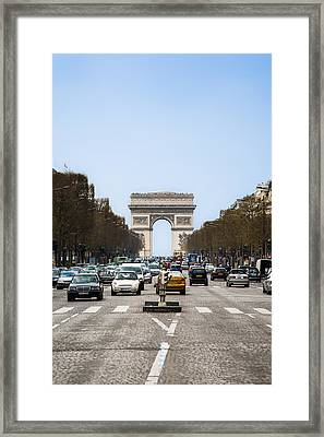 Arch Of Triumph In Paris Framed Print