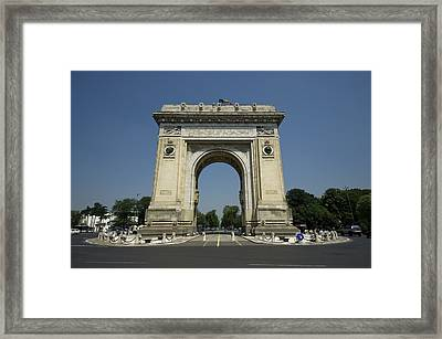 Arch Of Triumph Framed Print by Ioan Panaite