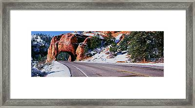 Arch Over Road, Utah State Route 12 Framed Print