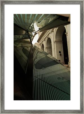 Framed Print featuring the photograph Arch Reflections by Haren Images- Kriss Haren