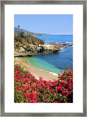 Arch Rock And Beach Laguna Framed Print