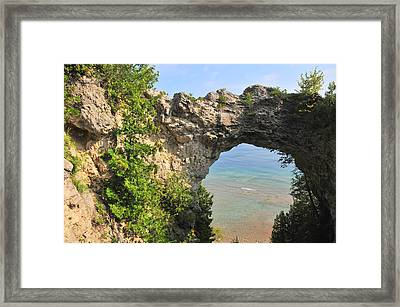 Arch Rock In Mackinac Island State Park Framed Print