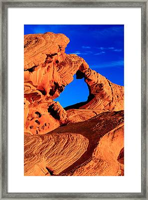 Arch Rock In The Valley Of Fire Framed Print by Eric Foltz