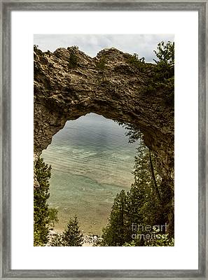 Arch Rock Mackinac Island Framed Print by Margie Hurwich