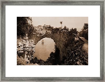 Arch Rock, Mackinac Island, Michigan, Rock Formations Framed Print