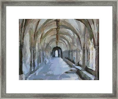 Arch Way Framed Print
