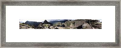 Archaeological Site, Machu Picchu Framed Print by Panoramic Images