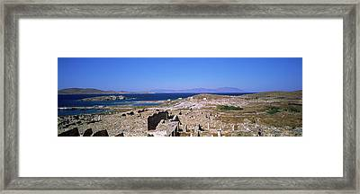 Archaeological Site On An Island Framed Print by Panoramic Images