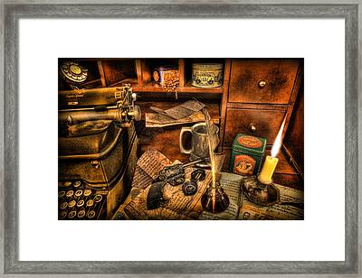 Archaeologist -  The Adventurer's Jornal Framed Print by Lee Dos Santos
