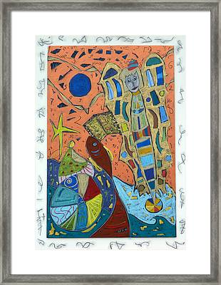 Framed Print featuring the mixed media Archangel Ariel by Clarity Artists