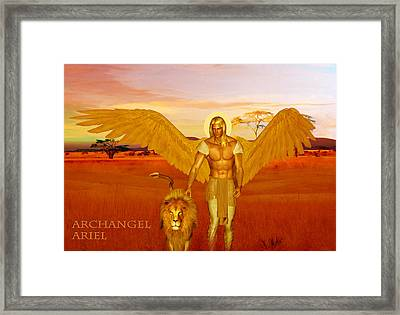 Framed Print featuring the painting Archangel Ariel by Valerie Anne Kelly