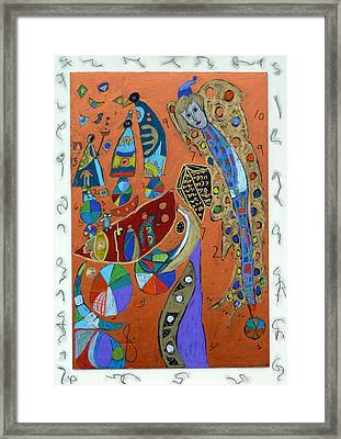 Framed Print featuring the mixed media Archangel Azrael by Clarity Artists