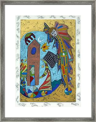 Framed Print featuring the mixed media Archangel Gabriel by Clarity Artists