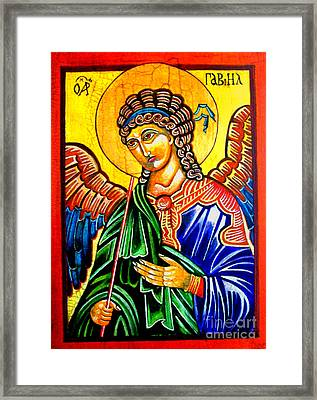 Archangel Gabriel Framed Print by Ryszard Sleczka