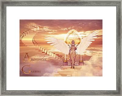 Archangel Gabriel Framed Print by Valerie Anne Kelly