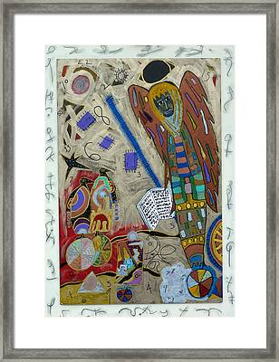 Framed Print featuring the mixed media Archangel Jeremiel by Clarity Artists