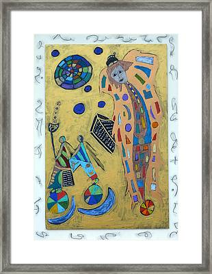 Framed Print featuring the mixed media Archangel Metatron by Clarity Artists