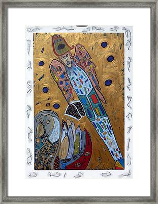 Framed Print featuring the mixed media Archangel Michael by Clarity Artists