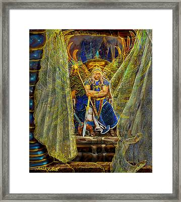 Archangel Michael-angel Tarot Card Framed Print