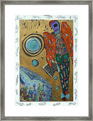 Framed Print featuring the mixed media Archangel Raguel by Clarity Artists