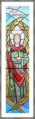 Archangel Raphael Framed Print by Gilroy Stained Glass