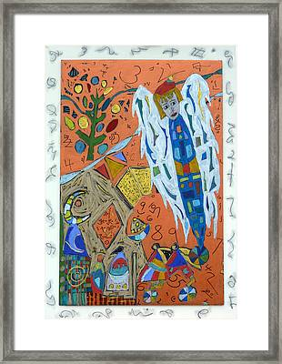 Framed Print featuring the mixed media Archangel Raziel by Clarity Artists