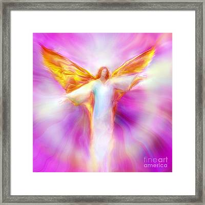 Archangel Sandalphon In Flight Framed Print
