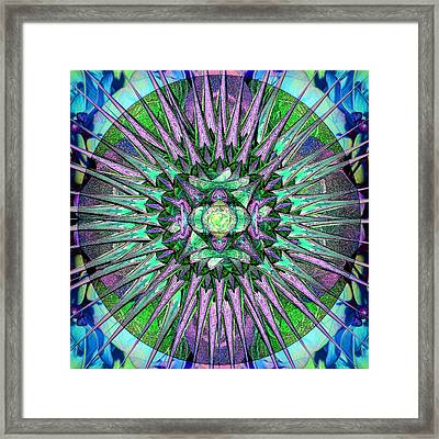 Archangels Gather Mandala Framed Print