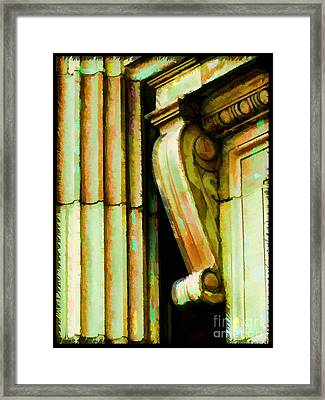 Archatectural Elements  Digital Paint Framed Print