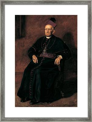 Archbishop William Henry Elder, 1903 Oil On Canvas Framed Print by Thomas Cowperthwait Eakins
