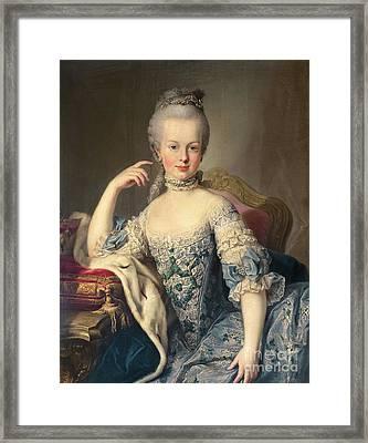 Archduchess Marie Antoinette Habsburg-lotharingen Framed Print by Martin II Mytens