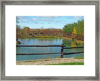 Arched Bridge Framed Print by Barbara McDevitt