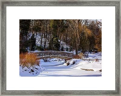 Arched Bridge In Edwards Garden Framed Print