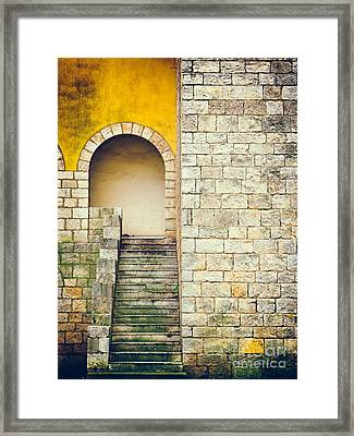 Framed Print featuring the photograph Arched Entrance by Silvia Ganora