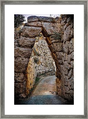 Arched Medieval Gate Framed Print