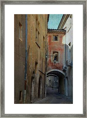 Arched Passage In Viviers France Framed Print by Carla Parris